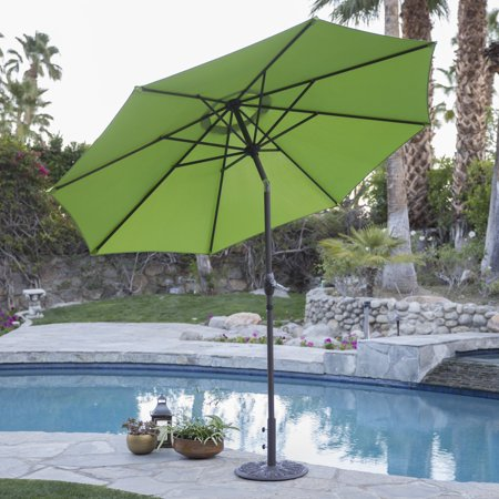 - Coral Coast 9 ft. Steel Market Patio Umbrella