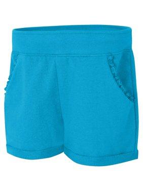 Girls' French Terry Ruffle Pocket Short