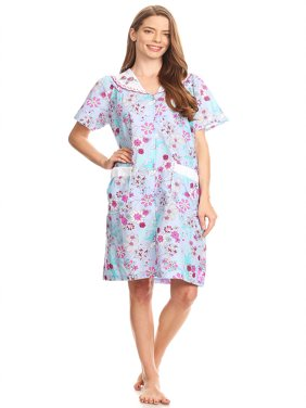 cb64b203e9 Product Image 20130 Womens Nightgown Sleepwear Cotton Pajamas - Woman  Sleeveless Sleep Dress Nightshirt Blue M