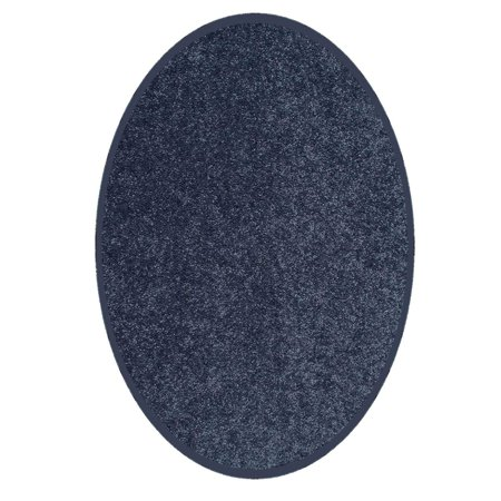Color World Collection Way Solid Color Area Rugs Petrol Blue - 6'x8' Oval](Red Carpet Okc)
