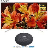 Sony XBR75X850F 75-Inch 4K Ultra HD Smart LED TV (2018 Model) with Google Home Mini (Charcoal)