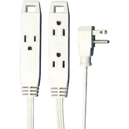 Axis 45505 3-Outlet Indoor Extension Cord, 8Ft (White)