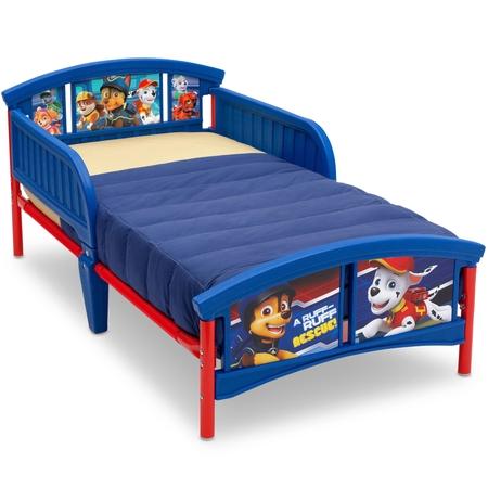 400 Kids Beds - Delta Children Nick Jr. PAW Patrol Plastic Toddler Bed, Blue