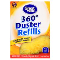 Great Value 360⁰ Duster Refills, 12 Count