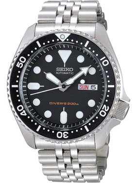 SEIKO SKX007K2,Men's Automatic Diver,Self Winding,Stainless Steel Case and bracelet,Screw Crown,200m WR,SKX007
