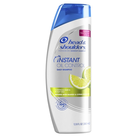 Head and Shoulders Instant Oil Control Daily-Use Anti-Dandruff Shampoo, 12.8 fl oz (Head & Shoulders Zinc Shampoo)