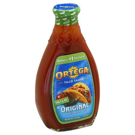 Ortega® Original Mild Taco Sauce 16 oz. Glass Bottle (Mild Habanero Pepper Sauce)