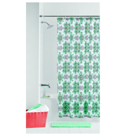 Mainstays Geometric Angelino 14 Piece Bath Set with Noodle Bath Rug, Shower Curtain and Decorative Hooks
