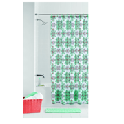 Mainstays Geometric Angelino Bath Set with Noodle Bath Rug, Shower Curtain, & Decorative Hooks, 14 Piece