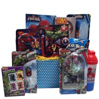 Ultimate Super Hero Valentine Gift Baskets For Kids, Fun and Games Ideal Get Well or Birthday Gift Baskets for Boys 3 to 8 Years Old
