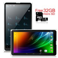 """Indigi® 7.0"""" Unlocked 3G Smart Cell Phone 2-in-1 Phablet Android 4.4 Tablet PC AT&T / T-Mobile (Black) w/ 32gb microSD"""