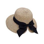 Floppy Hat Women s UPF 50+ Foldable Packable Straw Sun Beach Hat eb7b398db4ca