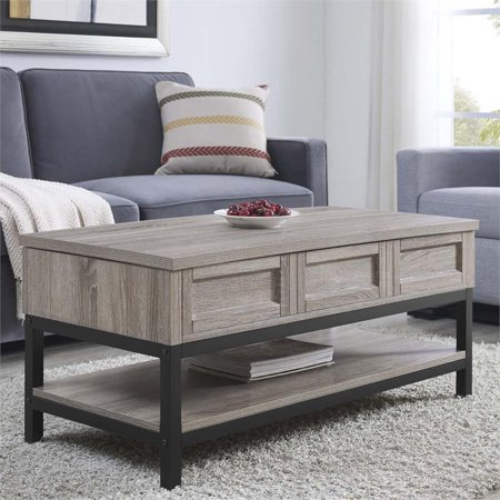 Ameriwood Home Barrett Lift Up Coffee Table in Sonoma Oak