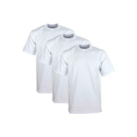 Soccer Heavyweight Cotton Tee - Pro Club Men's Heavyweight Cotton Short Sleeve Crew Neck T-Shirt, White, Small, (3 Pack)