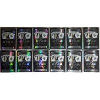 5 STAR POKER PLAYING CARD 12 PACK - BLACK & SILVER