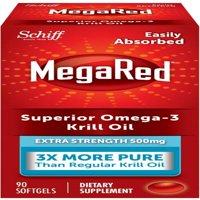 MegaRed Superior Omega-3 Krill Oil Softgels, 500 Mg, 90 Ct