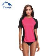 c593f00fe2 Reactionnx Bikini Cover Up Swimwear Shirt Beachwear Women's Rash Guard  Short Sleeve Rashguard Sun Protection Shirt