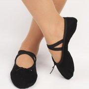 5369e0d1ad48 SNHENODA Ballet Shoes Ballet Flats Ballet Slipper Canvas Yoga Dance Shoe  for Kids Girls and Women