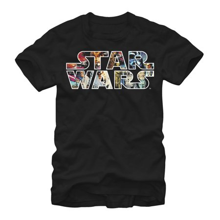 Star Wars Men's Classic Poster Logo T-Shirt (Personalized Star Wars)