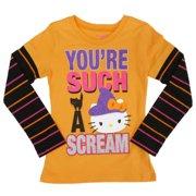 cfb819e2 Girls Orange You're Such A Scream Halloween T-Shirt