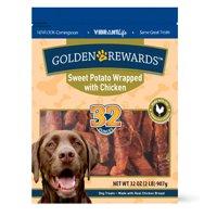 Golden Rewards Sweet Potato Wrapped with Chicken Dog Treats, 32 oz