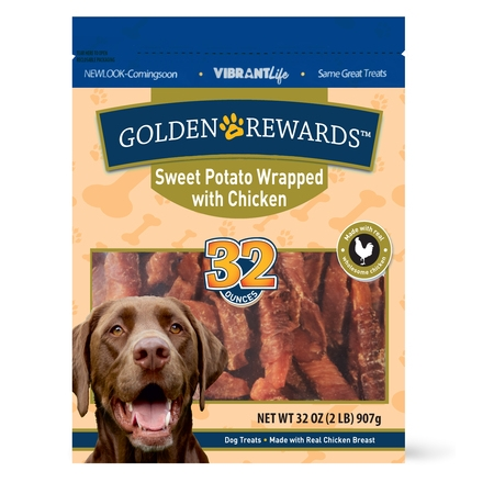 Golden Rewards Sweet Potato Wrapped with Chicken Dog Treats, 32 oz Buddy Biscuits Sweet Potato