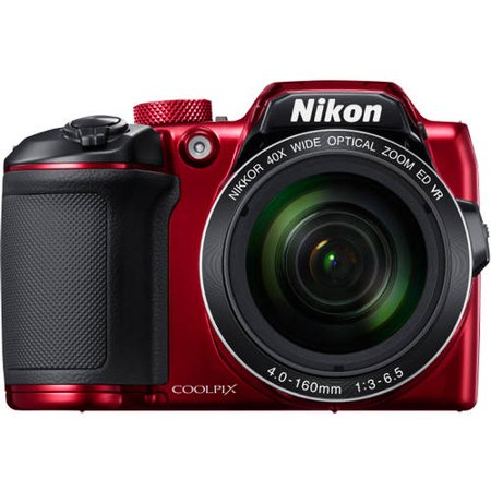 Nikon Red COOLPIX B500 Digital Camera with 16 Megapixels and 40x Optical Zoom (Camera Not Work)