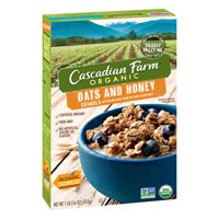 (2 Pack) Cascadian Farm Organic Granola, Oats and Honey Cereal, 16 oz
