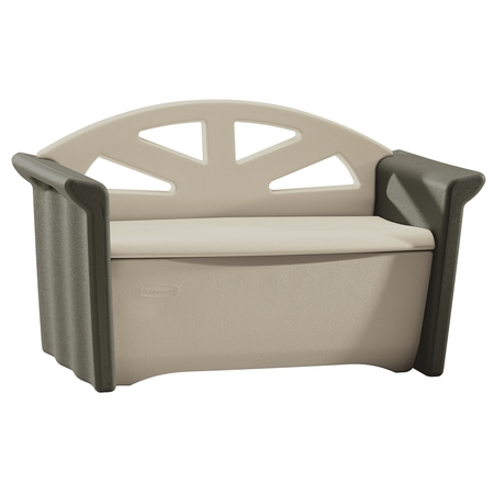 Rubbermaid Patio Storage Bench, Olive &