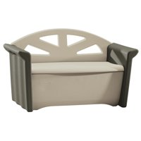 Rubbermaid Patio Storage Bench, Olive & Sandstone