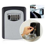 Key Storage Lock Box Wall Mounted 4 Digit Combination Key Lock Security Storage Box Portable Key Safe For Outside Holds Up To 5 Keys For House Keys Or Car Keys