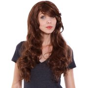 Simplicity Women Curly Cosplay Costume Wigs with Free Wig Cap Light Brown