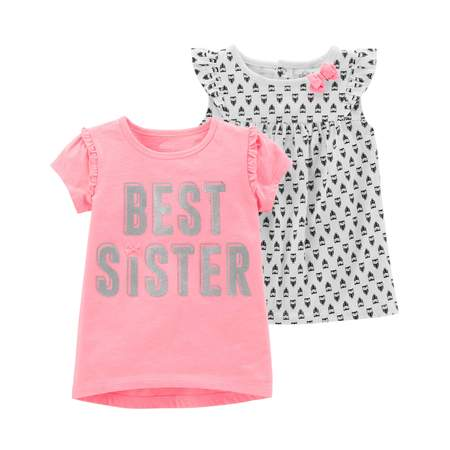 Short Sleeve T-Shirt & Sleeveless Top, 2-Pack (Toddler Girls)