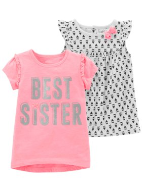 Short Sleeve T-Shirt & Sleeveless Top, 2-Pack (Toddler Girls)