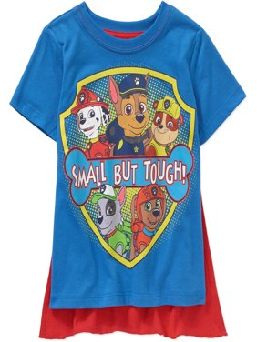 Paw Patrol Toddler Boy Small But Tough Short Sleeve Caped Tee