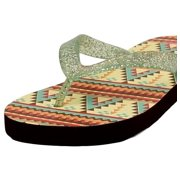7ae90b5503374 Blazin Roxx Western Shoes Womens Baylee Flip Flops Green 4118628