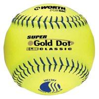 Worth USSSA 12 in. Super Gold Dot Slowpitch Softballs - 1 Dozen