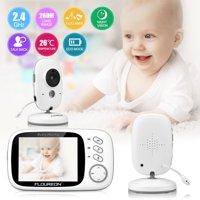 "Home Video Baby Monitors Camera 3.2"" Large LCD Screen Night Vision Two Way Talk Monitoring System"