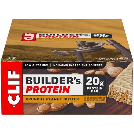 Builders Bar - Clif Builders, Crunchy Peanut Butter, 2.4 Oz, 12 Ct Protein Bar