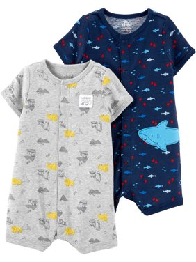 Snap up romper, 2-pack (Baby Boys)