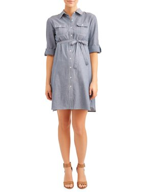 Maternity Chambray Dress - Available in Plus Sizes