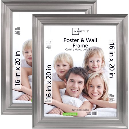 Mainstays 16x20 Pewter Poster and Picture Frame, Set of 2 ()
