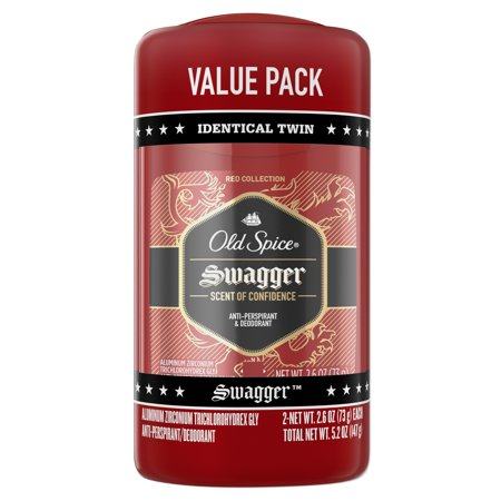 Best Anti Perspirant Men (Old Spice Red Collection Swagger Antiperspirant and Deodorant for Men 2.6 oz (Pack of 2))