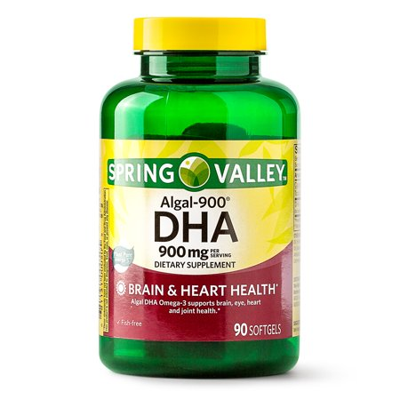 Spring Valley Algal-900 DHA Softgels, 900 mg, 90 (Best Dha Supplement For Pregnancy)