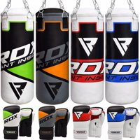 RDX Kids Punching Bag Junior Boxing Gloves Youth Heavy Filled Leather Multi