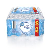 Great Value Purified Drinking Water, 16.9 Fl. Oz., 40 Count