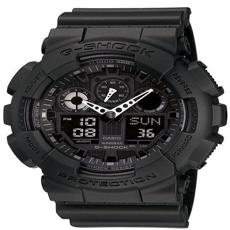- GA100-1A1 G-Shock X-Large Black Ana / Digi Dial Resin Strap Men Watch NEW