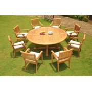 Teak Dining Set 8 Seater 9 Pc 72 Round Table And