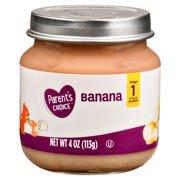 Parent's Choice Baby Food, Banana, Stage 1, 4 oz