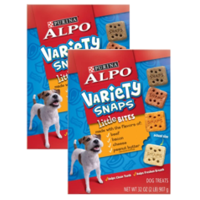 (2 Pack) Purina ALPO Variety Snaps Little Bites Dog Treats with Beef, Bacon, Cheese & Peanut Butter Flavors 32 oz. Box